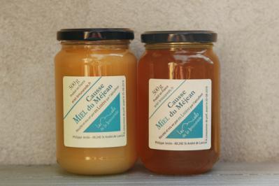 Miel cristallisé et miel frais